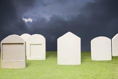 cmentarz ciemna noc Obrazy Stock