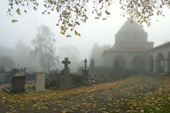 cmentarz mgła. Obraz Stock