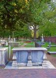 Cmentarz przy Chrystus kościół miejsce pochówku Obraz Royalty Free