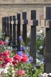 Cmentarz przy Jaskiniowym monasterem w Kijów. Zdjęcie Royalty Free