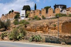 Cmentarz w Agrigento, Sicily, Włochy Obrazy Royalty Free