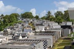 Cmentarz w grodzkim Morne-A-l ` Eau, Guadeloupe zdjęcia royalty free