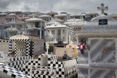 Cmentarz w grodzkim Morne-A-l ` Eau, Guadeloupe obraz royalty free