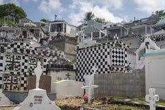 Cmentarz w grodzkim Morne-A-l ` Eau, Guadeloupe zdjęcie stock