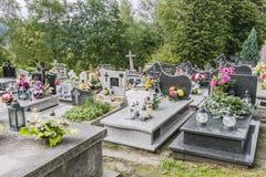 Cmentarz w małej wiosce Zdjęcia Stock