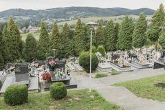 Cmentarz w małej wiosce Obrazy Stock