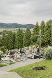 Cmentarz w małej wiosce Zdjęcie Stock