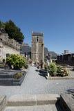 Cmentarz w Mont saint michel, Francja Zdjęcie Royalty Free