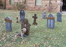 Cmentarz z potwora przybyciem z ziemi Obrazy Stock
