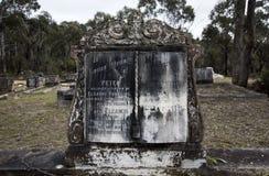 Cmentarza Headstone, Historyczny cmentarz Zdjęcia Stock