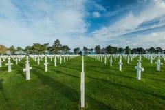 Cmentarze spadać żołnierze w Normandy obraz stock