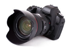 Câmera de Digitas SLR Foto de Stock