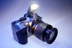 Câmera de Digitas SLR Foto de Stock Royalty Free