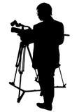 Câmera e homem Fotos de Stock
