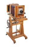 Câmera grande de madeira velha do formato Foto de Stock Royalty Free
