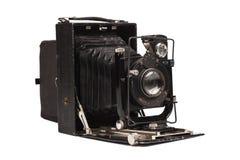 Câmera velha da película isolada no branco Fotos de Stock Royalty Free