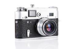 Câmera velha do rangefinder de 35 milímetros Fotografia de Stock Royalty Free