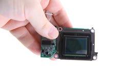 Cmos chip from camera Royalty Free Stock Photos