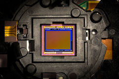 CMOS sensor. Close up of a camera CMOS sensor Stock Images