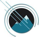 Cmping e logo all'aperto dell'annata di avventura Illustrazione di vettore Fotografia Stock Libera da Diritti