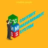 CMS使管理系统信件平的3d等量传染媒介满意 图库摄影