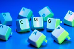 CMS. Written with keyboard keys Stock Images