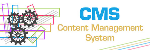 CMS Colorful Strokes Stock Image