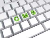 CMS concept. Stock Image