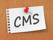 Cms concept 3d illustration Stock Photography