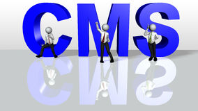 Cms content management system Stock Photography