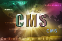 CMS - content management system Stock Photos