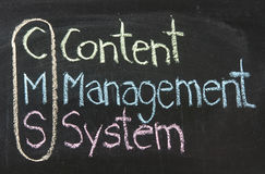 CMS,Content management system Stock Photos