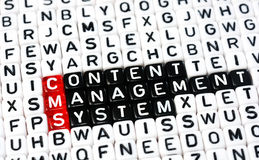 CMS ,Content Management System Stock Image