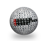 CMS ,Content Management System 3d ball Royalty Free Stock Photography