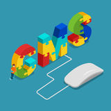 CMS content management system flat 3d isometric vector Stock Photos