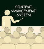 CMS Content Management System Stock Image