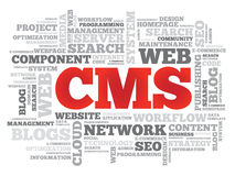 CMS Content Management System Royalty Free Stock Photos