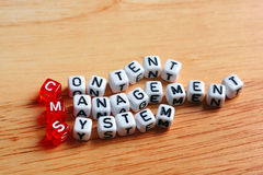 CMS Content Management System Royalty Free Stock Photography
