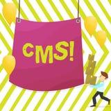 CMS des textes d'écriture de Word Concept d'affaires pour la modification d'assistances techniques de gestion de contenu de l'hom illustration libre de droits