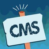 CMS des textes d'écriture La signification de concept contrôle la création et la réforme de l'application logiciel du contenu num illustration de vecteur
