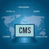 CMS design over blue background vector illustration Royalty Free Stock Images