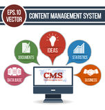 CMS design over white background Royalty Free Stock Image