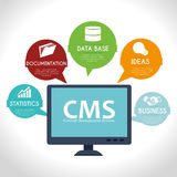 CMS design over white background vector illustration Stock Photo