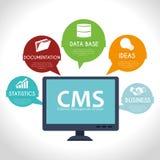 CMS design over white background vector illustration Stock Photo