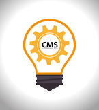 CMS design over white background vector illustration Stock Images