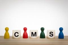 CMS - Een systeem van het inhoudsbeheer Royalty-vrije Stock Fotografie