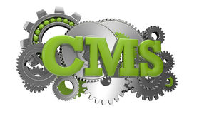Cms gears Royalty Free Stock Photo
