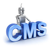 CMS: het systeemconcept van het inhoudsbeheer Stock Foto