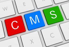 Cms keyboard concept 3d illustration Stock Photography