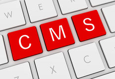 Cms keyboard concept illustration Stock Photography
